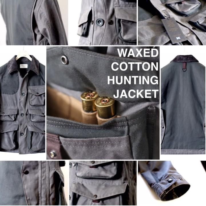 WAXED COTTON HUNTING JACKET